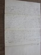 BANDOL 1860 Manuscrit Pour Capitaine De La Marie-Léonie  Lettre Lire.. - Manuscrits