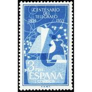 ES1182STV-LFT***1182STAN.Spain Espagne.NENTENARIO DEL TELEGRAFO.1955 (Ed 1182**) Sin Charnela. - 1931-Hoy: 2ª República - ... Juan Carlos I