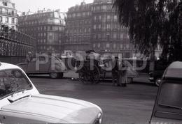 1963 CART QUAI PARIS FRANCE 35mm AMATEUR NEGATIVE NOT PHOTO NEGATIVO NO FOTO - Other