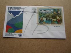 NATIONS UNIES NEW-YORK FDC N° 584 - 587 !!! - New-York - Siège De L'ONU