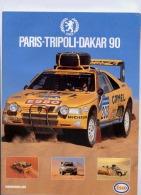 LOT DE 6 POSTER PARIS-DAKAR  (2 POUR 1987) - Auto/Moto