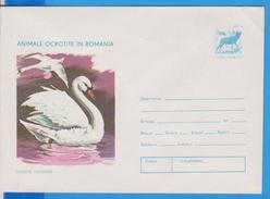 BIRD BIRDS SWAN ROMANIA POSTAL STATIONERY