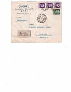 BUSTA PUBBLICITA' CUOPEL CUOIAMI-PELLAMI   BARI PER PONTEVICO (BS) VIAGGIATA NEL 1938 - Bari