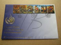 NATIONS UNIES , FDC GRAND FORMAT , DROITS DE L'HOMME , 2004 !!! - Emissions Communes New York/Genève/Vienne