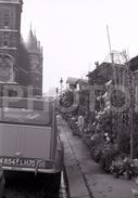 1963 MARCHÉ DE FLEURS ILE PARIS FRANCE 35mm AMATEUR NEGATIVE NOT PHOTO NEGATIVO NO FOTO CITROEN 2CV - Other