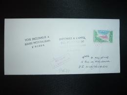 LETTRE (PLI) TP UNESCO 1,40 Annulé Par Cachet Rouge RETOUR A L'ENVOYEUR + RETOUR MONTAUBAN (82) GRIFFE SPECIALE - Bolli Manuali