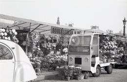 1963 MARCHÉ DE FLEURS ILE PARIS FRANCE 35mm AMATEUR NEGATIVE NOT PHOTO NEGATIVO NO FOTO CITROEN TRACTION SALEV CENTAURE - Other