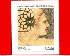 Nuovo - MNH - ITALIA - 2017 - 60º Anniversario Dei Trattati Di Roma - Volto Di Donna - 0,95 - 2011-...: Neufs