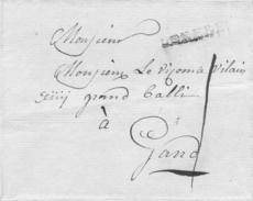 Complete Brief Lokeren - Gent 21 Februari 1790 (Herlant 7) Port 1 Sol - 1714-1794 (Pays-Bas Autrichiens)