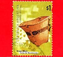 ARGENTINA - Usato - 2000 - Manufatti Archeologici - Basket, Mbaya Indians - Cesto De Recoleccion  - $ 1 - Argentina