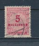 Duitse Rijk/German Empire/Empire Allemand/Deutsche Reich 1923 Mi: 317AW Yt: 298 (Gebr/used/obl/o)(2240) - Duitsland