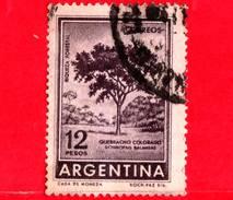 ARGENTINA - Usato - 1962 - Ricchezza Forestale - Schinopsis Balansae - Quebracho Colorado - 12 - Argentina