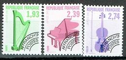 France Préoblitérés 1990 Musical Instruments Mint Set - Preobliterados