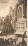 Louvain Grand'Place Et Entrée De L'église St. Pierre. - Leuven