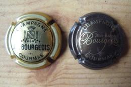 Champagne J.B BOURGEOIS - 2 Plaques De Muselet Différentes - Other