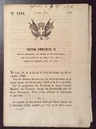 REGNO DI SARDEGNA  1856 DECRETO VITTORIO EMANUELE II SULLE POSTE IN FRANCESE STAMPATO TIP. CHAMBERY - Decreti & Leggi