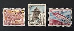 1957 Czechoslovakia --internationales Geophysikalischen Jahr Yv 939-941