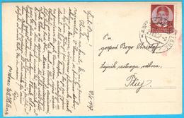 ROGASKA SLATINA - Street Scene ( Slovenia ) * Real Photo * Travelled 1937. - Slovenia