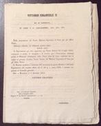 REGNO DI SARDEGNA   MONCALIERI 1854  DECRETO VITTORIO EMANUELE II SULLE POSTE COSTO DIVISA PORTALETTERE... - Decreti & Leggi