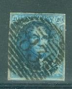 "BELGIE - OBP Nr 7A - Medaillons - Lijnstempel 83 ""MONS"" - (ref. ST-306) - 1851-1857 Medallions (6/8)"