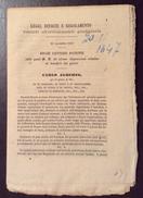 REGNO DI SARDEGNA  1847   DECRETO DI CARLO ALBERTO CON DISPOSIZIONI A BENEFICIO DEI POVERI... - Decreti & Leggi