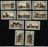 Lot Vignettes SNCF : St Jean D'Angély , Cognac , Niort , La Roche Sur Yon , Les Sables D'Olonne , .... (Art. N° 588-2) - Autres