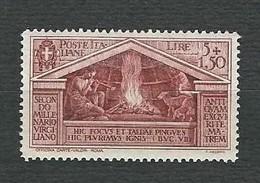 ITALIA 1930 - Bimillenario Della Nascita Di Virgilio - 5 L. + 1,50 Bruno-rosso - MH - Sa 289 - Nuovi