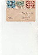 SARRE - LETTRE DE 1947  AFFRANCHIE N°212(x4) + N° 205(x4) +N°215 - Briefe U. Dokumente