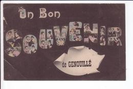 CPA  - UN BON SOUVENIR DE GENOUILLE - France