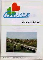 88 CHARMES EN ACTION MAGAZINE MUNICIPAL N°4 MAI 1994 - Livres, BD, Revues