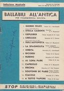 SPARTITO MUSICALE PER  FISARMONICA SOLISTA - 15 BALLABILI ALL'ANTICA - 17X24 - Spartiti