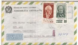 BRASIL CC CERTIFICADA SELLOS PRESIDENTE ALEMANIA LUEBKE Y EVANGELIO RELIGION TEOLOGIA AL DORSO MAT WARDEN - Brasil