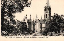 LAMPAUL -56- L'ABSIDE DE L'EGLISE ET LE CLOCHER - Lampaul-Guimiliau
