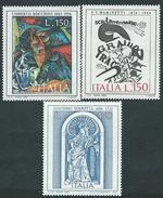 Italia 1976; Arte Italiana: Boccioni + Marinetti + Serpotta. Serie Completa. - 1946-.. République