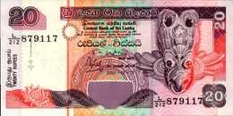 SRI LANKA  20 ROUPIES Du 12-12-2001  Pick 116a  AU/SPL - Sri Lanka