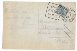 ALGERIE - 1930 - CENTENAIRE De L'ALGERIE - CARTE Avec DAGUIN De ALGER STRASBOURG => PARIS - Algeria (1924-1962)
