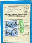 """MARCOPHILIE-""""Ordre De Rééxpédition""""'cad Nimes 1980-4 Stamps 2 """"'CONCORDE"""" Mermoz Et St Exupéry - Marcophilie (Lettres)"""