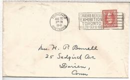 CANADA 1941 TORONTO CC CON MAT CANADIAN NATIONAL EXHIBITION