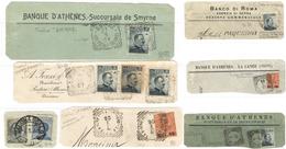 C050) V.E.III UFFICI ALL'ESTERO - LOTTO DI 7 FRAMMENTI CON ANNULLI COMPLETI - Bureaux Etrangers