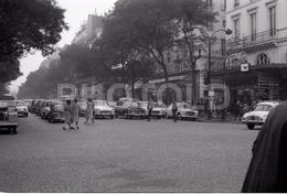 1963 BOULEVARD BONNE NOUVELLE PARIS FRANCE 35mm  AMATEUR NEGATIVE NOT PHOTO NEGATIVO NO FOTO LAND ROVER - Other