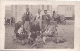 Fotokaart Carte Photo - Familie Op Het Strand Blankenberge - Fotograaf Leopold Louwage - Photos