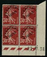 FRANCE - YT PREO 61 - BLOC DE 4 TIMBRES NEUFS ** COIN DATE - Ecken (Datum)
