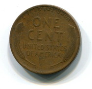 1935-S USA 1c Wheat Penny Coin - Federal Issues
