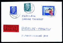 A4636) DDR Express-Brief Von Dresden 23.3.65 Mit Marke Aus Block 19 - DDR