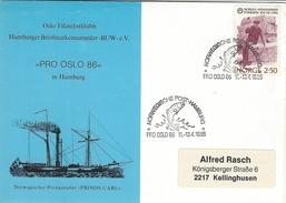 Noeway - Postmark Norwegische Post-Hamburg    # 05933