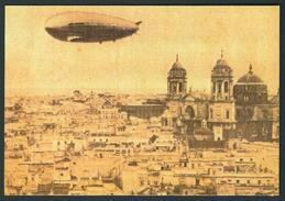 ESPAÑA/SPAIN GRAFF ZEPPELIN FLYING OVER CADIZ 1930 - Airships