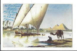 16632 - Le Caire Nile Sailing Boats Pyramides - Le Caire