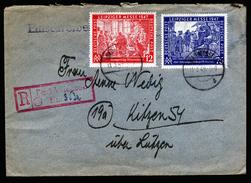 A4639) Kontrollrat R-Brief Von Bad Wiessee 11.3.48 Mit Mi.965-966 - Gemeinschaftsausgaben