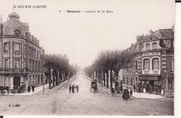 BEAUNE -- Avenue De La Gare Animée +  Hôtel De France - Beaune
