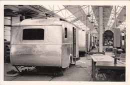 PANISSIERES (42) Carte Photo - F. Notin - Automobile Caravane Camping - Usine - France